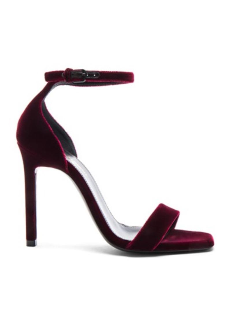 Saint Laurent Velvet Amber Ankle Strap Heels