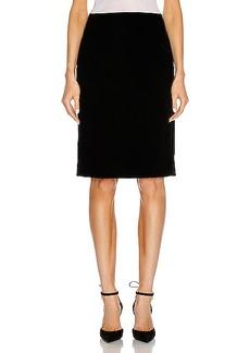 Saint Laurent Velvet Long Skirt