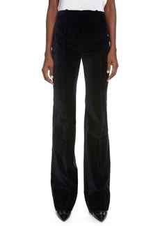 Saint Laurent Velveteen Flare Trousers