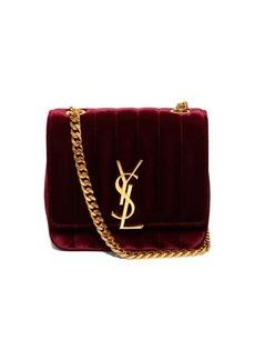 Saint Laurent Vicky quilted-velvet cross-body bag