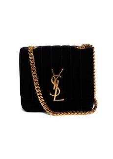 Saint Laurent Vicky small quilted-velvet cross-body bag