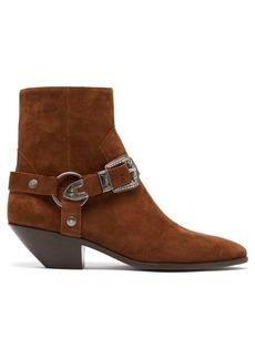 Saint Laurent West harness suede boots