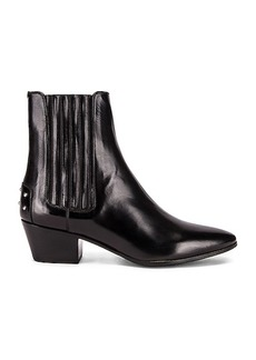Saint Laurent West Leather Chelsea Boots