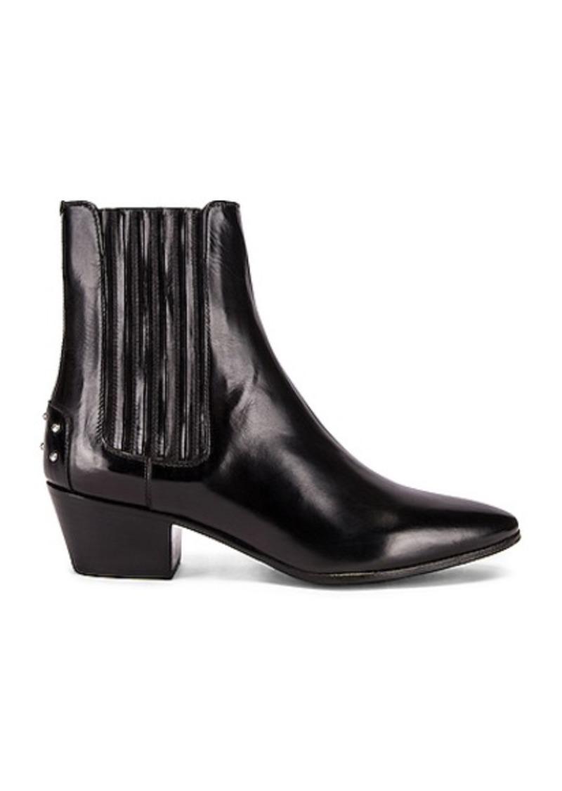 Saint Laurent West Leather Chelsea Boots