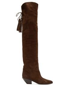 Saint Laurent West over-the-knee suede boots