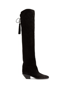 Saint Laurent West suede slouch tassel boots