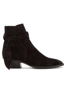 Saint Laurent West tie-side suede ankle boots