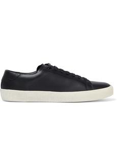 Saint Laurent Woman Court Classic Leather Sneakers Black