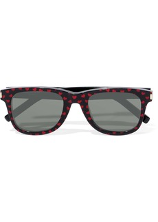 Saint Laurent Woman D-frame Printed Acetate Sunglasses Black