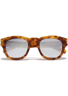 Saint Laurent Woman D-frame Tortoiseshell Acetate Sunglasses Light Brown