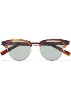 Saint Laurent Woman D-frame Tortoiseshell-print Acetate And Gold-tone Sunglasses Animal Print