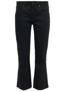 Saint Laurent Woman Mid-rise Kick-flare Jeans Black