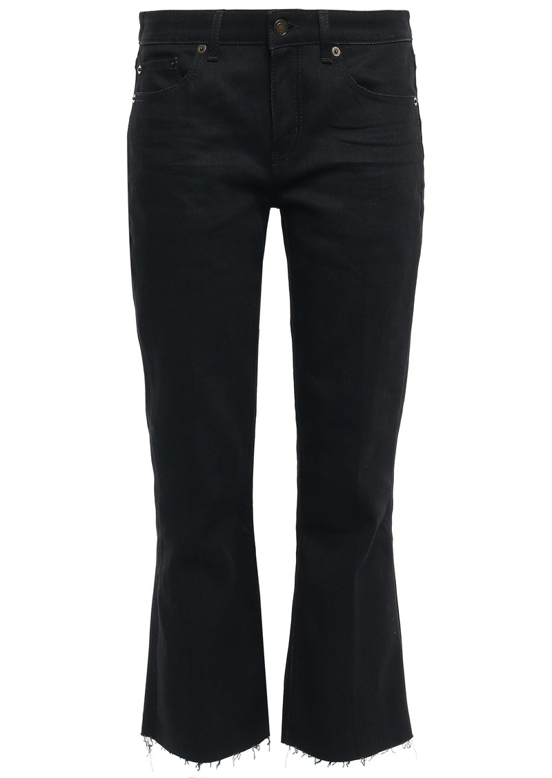 Saint Laurent Woman Mid-rise Kick-flare Jeans Black