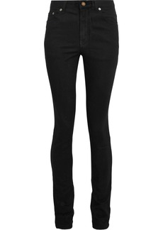 Saint Laurent Woman Mid-rise Skinny Jeans Dark Denim