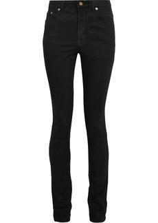 Saint Laurent Woman Mid-rise Skinny Jeans Dark Denim