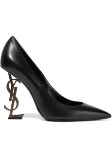 Saint Laurent Woman Opyum Leather Pumps Black