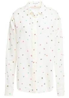 Saint Laurent Woman Printed Wool Shirt Ivory