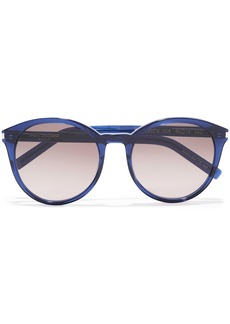 Saint Laurent Woman Round-frame Acetate Sunglasses Blue