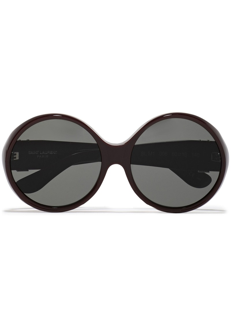Saint Laurent Woman Round-frame Acetate Sunglasses Chocolate