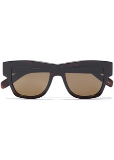 Saint Laurent Woman Square-frame Acetate Sunglasses Dark Brown