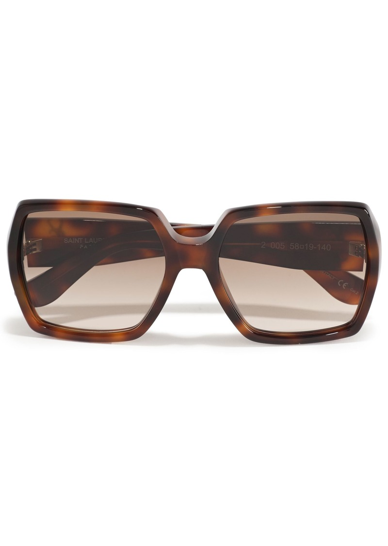 Saint Laurent Woman Square-frame Tortoiseshell Acetate Sunglasses Brown