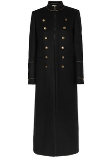 Saint Laurent Woman Wool-felt Coat Black