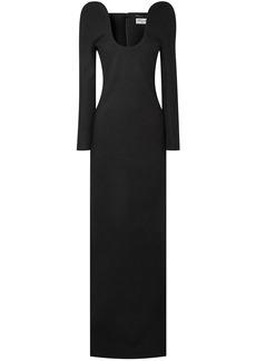 Saint Laurent Woman Wool Gown Black