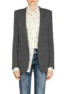 Saint Laurent Women's Birdseye Linen-Blend Blazer