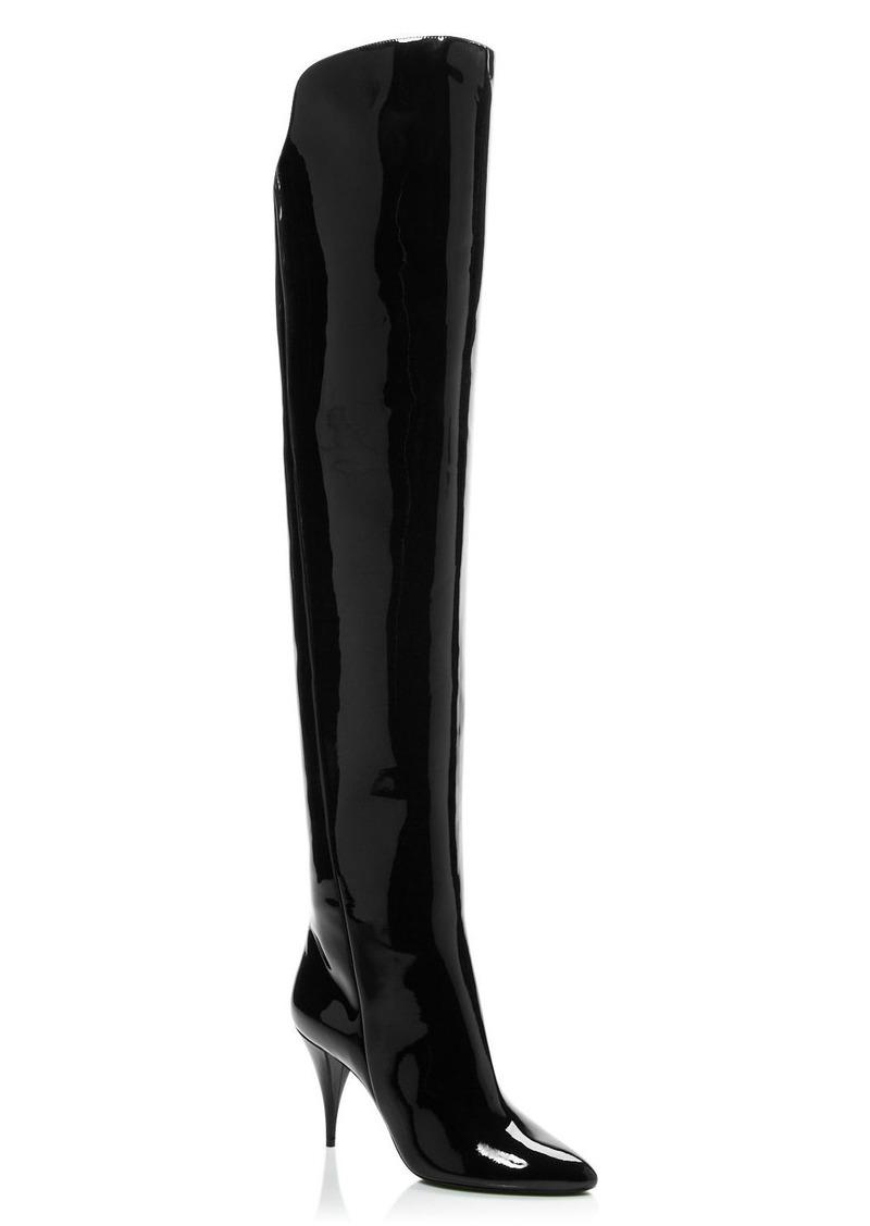 Saint Laurent Women's Kiki 85 Over-the-Knee Boots