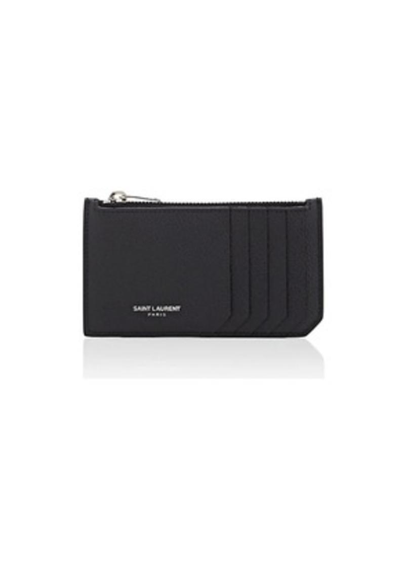 9b2325615b50 Saint Laurent Saint Laurent Women s Leather Top-Zip Card Case ...