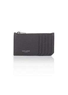 Saint Laurent Women's Leather Top-Zip Card Case