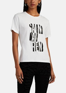 Saint Laurent Women's Logo Cotton T-Shirt
