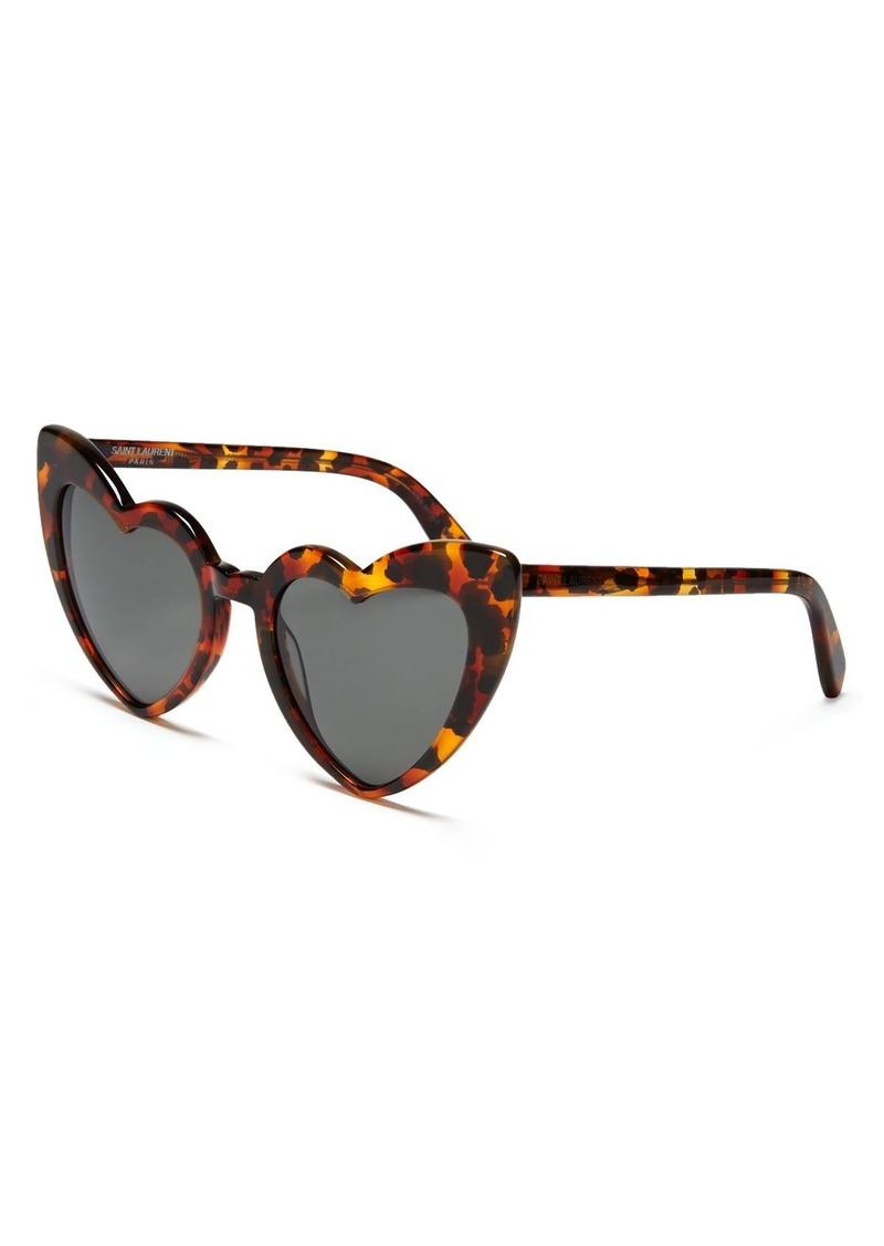 Saint Laurent Women's Lou Lou Heart Sunglasses, 53mm