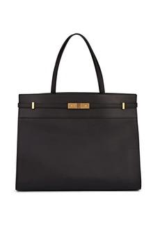 Saint Laurent Women's Manhattan Medium Leather Shopping Satchel - Black