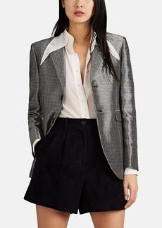 Saint Laurent Women's Metallic Two-Button Blazer