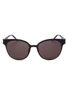 Saint Laurent Women's Mirrored Round Sunglasses, 56mm