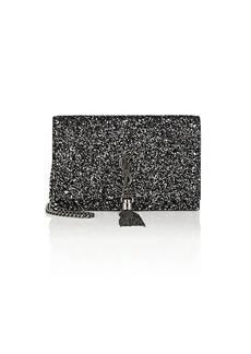 Saint Laurent Women's Monogram Kate Glitter Chain Wallet - Black