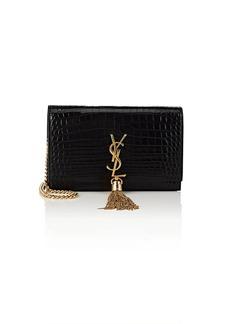 Saint Laurent Women's Monogram Kate Leather Chain Wallet - Black