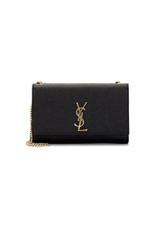 Saint Laurent Women's Monogram Kate Medium Leather Chain Bag - Black