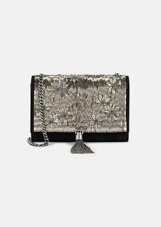 Saint Laurent Women's Monogram Kate Small Suede Bag - Black