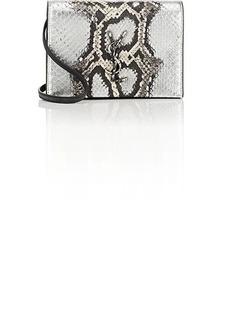 Saint Laurent Women's Monogram Kate Toy Python Strap Wallet
