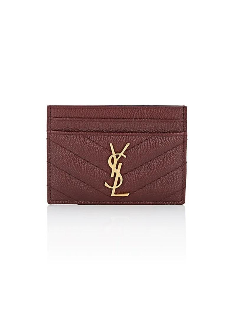 Saint Laurent Saint Laurent Women s Monogram Leather Card Case - Red ... fb07d387a