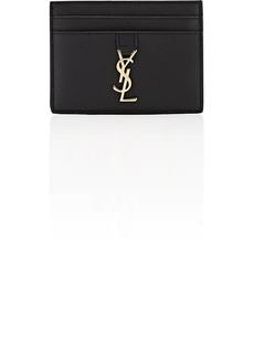 Saint Laurent Women's Monogram Leather Card Case