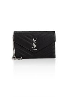 Saint Laurent Women's Monogram Leather Chain Wallet
