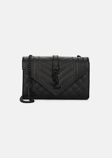 Saint Laurent Women's Monogram Small Leather Shoulder Bag - Black