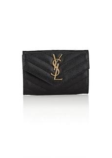 Saint Laurent Women's Monogram Small Leather Wallet - Black