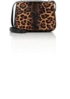 Saint Laurent Women's Monogram Spontini Small Calf Hair & Leather Saddle Bag - Brown