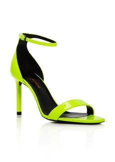 Saint Laurent Women's Neon High-Heel Sandals