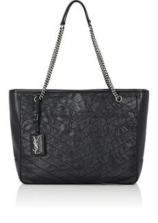 Saint Laurent Women's Niki Large Leather Shopping Bag - Black