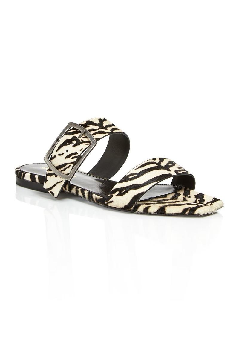 Saint Laurent Women's Oak Animal-Print Sandals